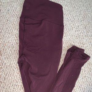 Burgundy lululemon leggings